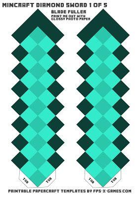 Minecraft Diamond Template Minecraft diamond swor...