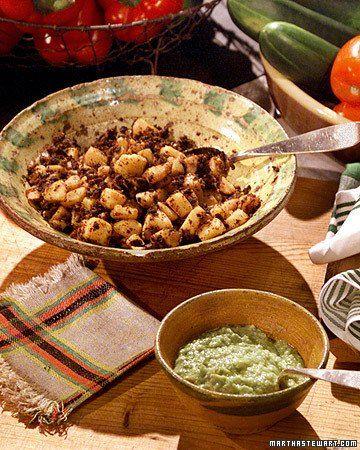 Rick's Potato and Chorizo Tacos with Avocado Salsa