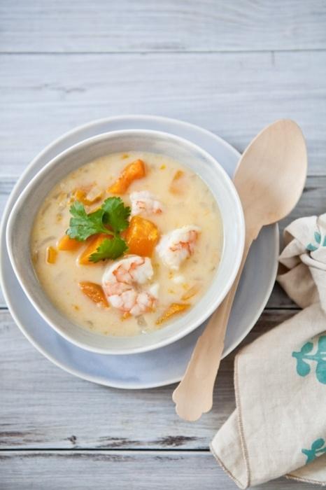 Coconut, squash and shrimp soup | Soups | Pinterest