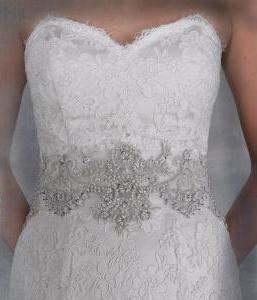 Awesome crystal wedding dress belt