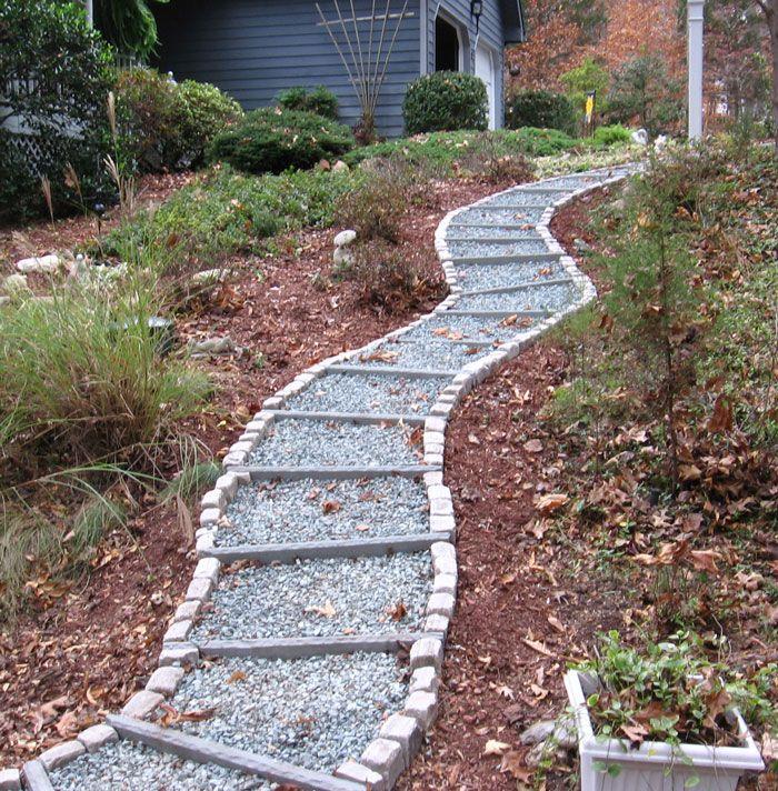 walkway backyard ideas pinterest