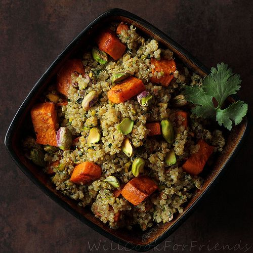 Sweet Potato & Pistachio Quinoa Salad | Food and all things yummy | P ...