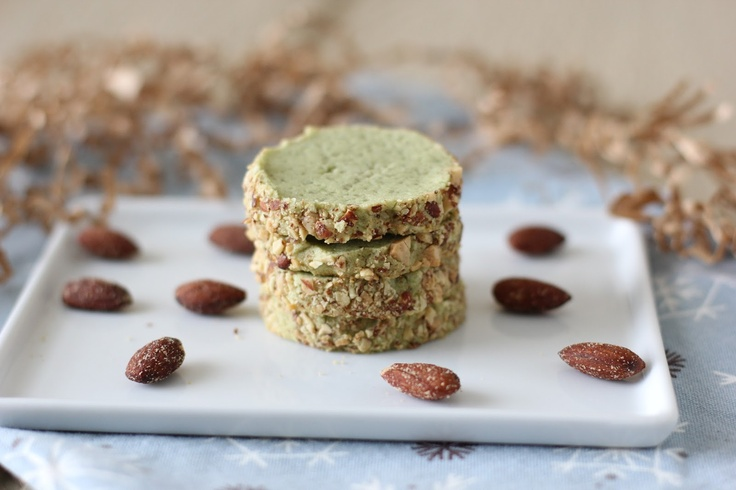 Smoked Almond Matcha Tea Cookies   Mix & Matcha   Pinterest