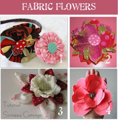 fabric flowers - 16 patterns & tutorials