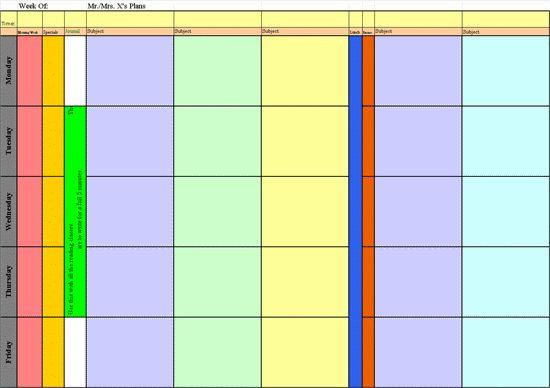 Elementary Lesson Planning Template   Classroom-Management   Pinterest