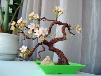 Как сделать дерево с цветами 212
