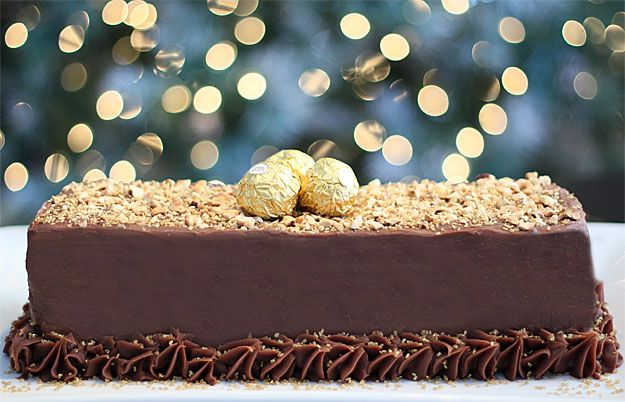 Ferrero Rocher Cake - Milk Chocolate and Meringue Cake with Hazelnuts ...