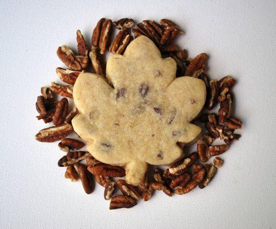 Maple Pecan Shortbread Cookies by KitsuneTea on Etsy, $13.00