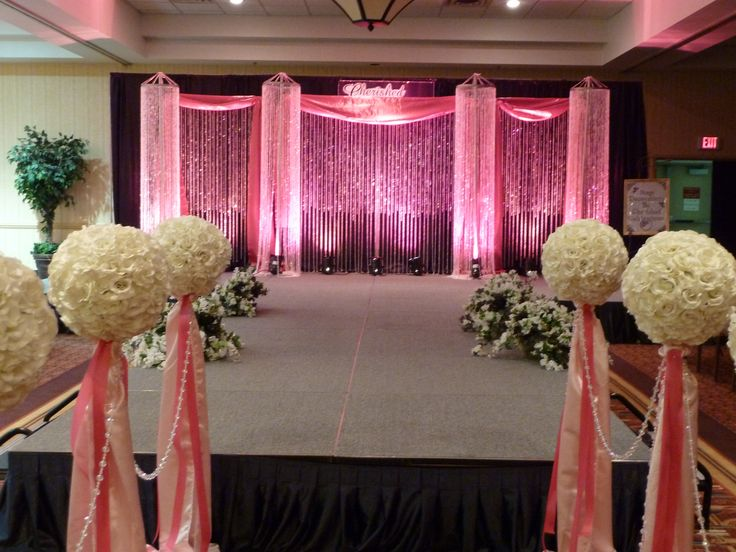 Stage decor for the bridal fashion show/ crystal beaded backdrop with ...