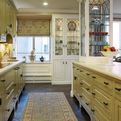 Pin by michelle coward on british colonial kitchen pinterest for Colonial style kitchen cabinets