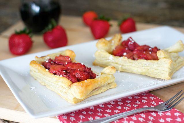 Balsamic Roasted Strawberry and Ricotta Tart | Recipe