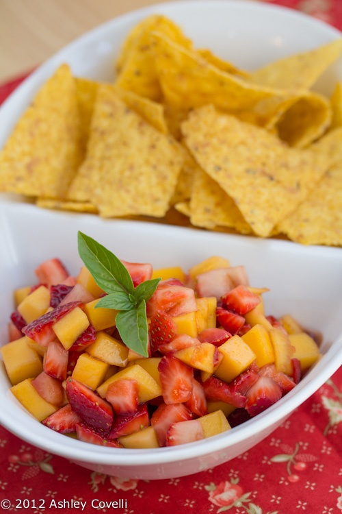 Mango-Strawberry Salsa | Eating this | Pinterest