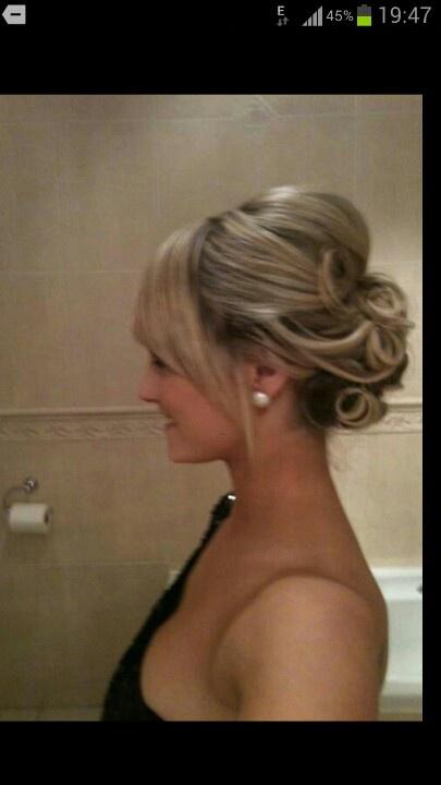 Upstyles long hair fashion soft Wedding hair. Upstyles. Colour Pi ...