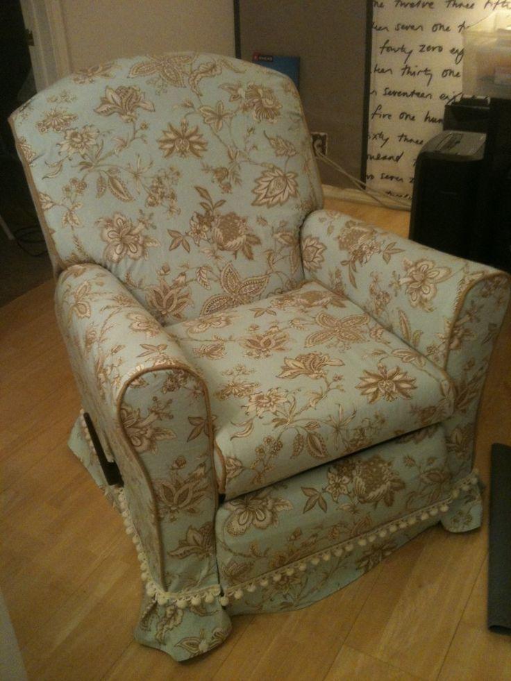 Baby rocker chair - Swivel Rocker Recliner Slipcover