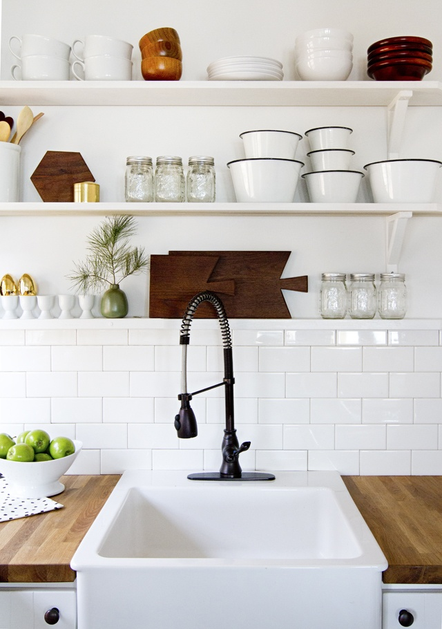 Kitchen open shelving // smitten studio