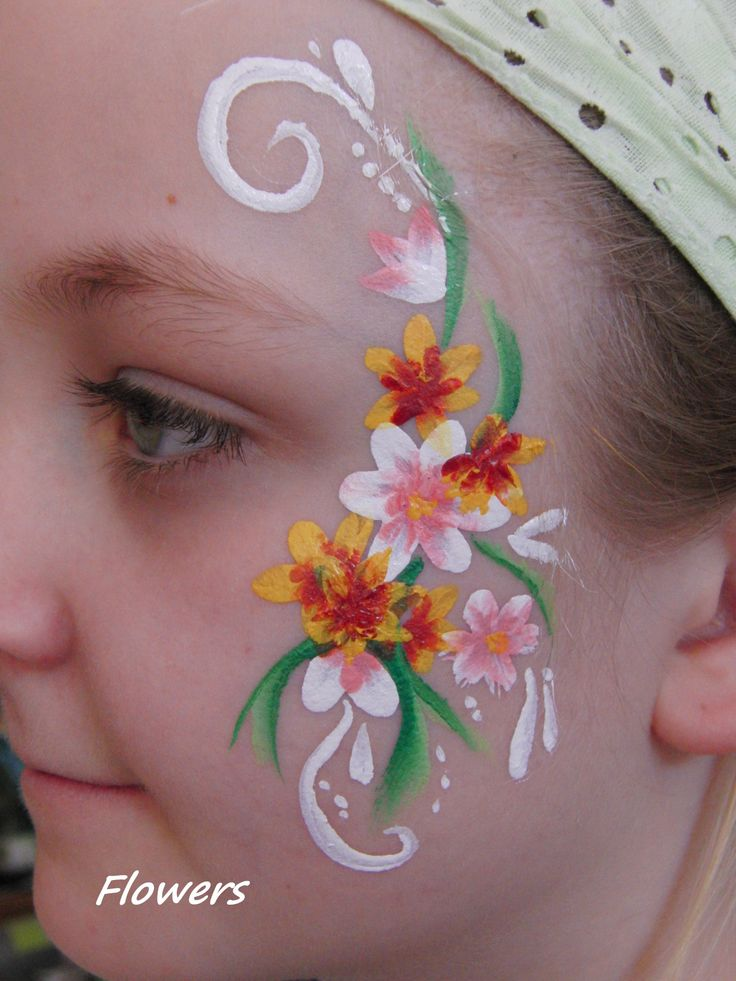 face painting flowers face painting pinterest