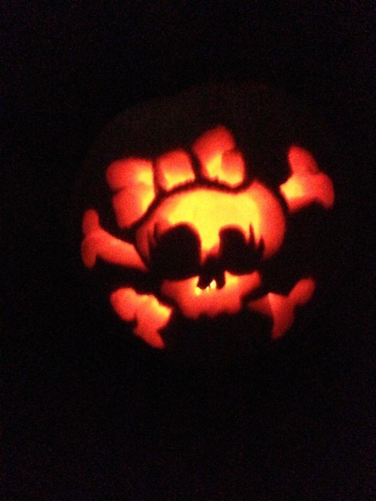Girly Skull Pumpkin Fall Fun Pinterest
