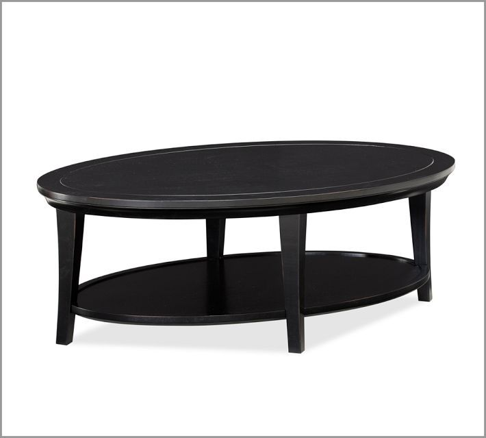 Metropolitan oval coffee table black living room ideas pinterest Black coffee table