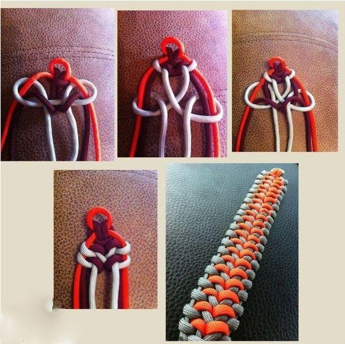 Интересные браслеты из ниток