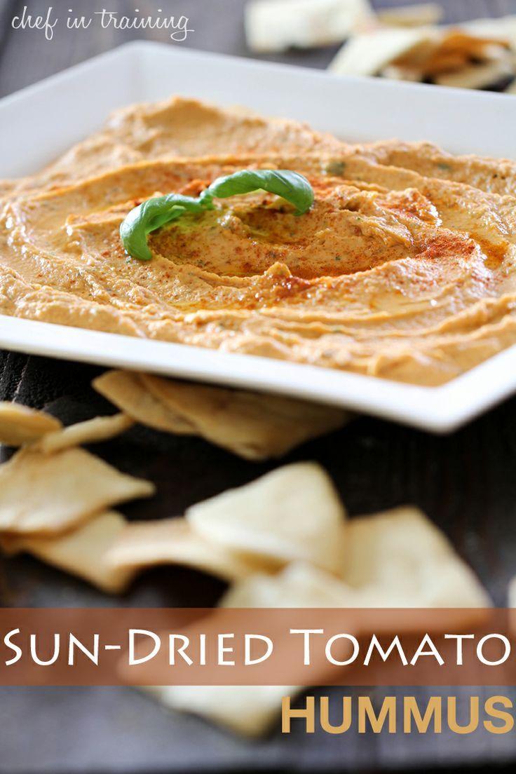 Sun-Dried Tomato Hummus.