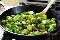 braised brussels sprouts with bacon and beer-it's got bacon AND beer ...