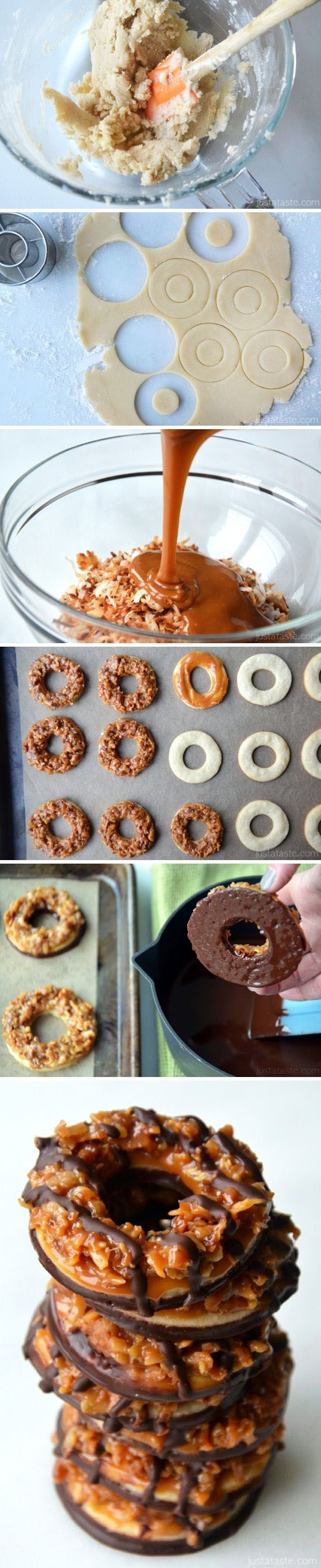 Homemade Samoas Girl Scout Cookies | Recipes to Try | Pinterest