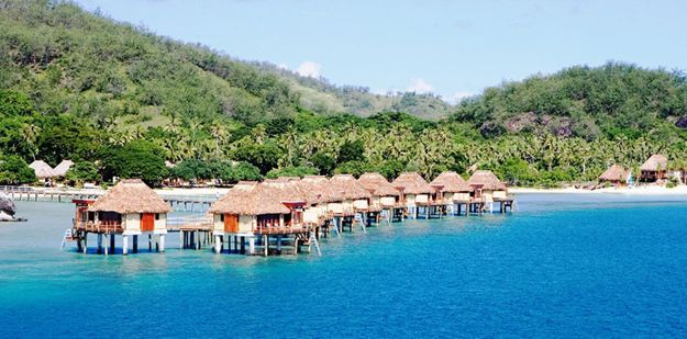 Awesome overwater bungalows outside Tahiti...and close to Oz!