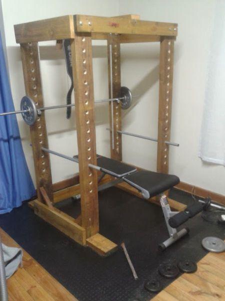 Power rack diy gym equipment project centurion