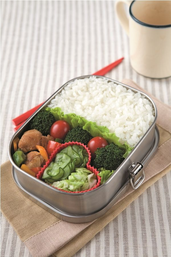 Japanese Bento -- Chicken Stir-Fry and Cucumber Pickles Recipe by ...