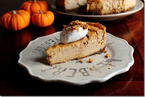 Pumpkin Gingersnap Cheesecake   http://iowagirleats.com/2011/11/13 ...