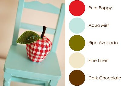 September Color Play - Pure Poppy, Aqua Mist, Ripe Avocado, Fine Linen, Dark Chocolate