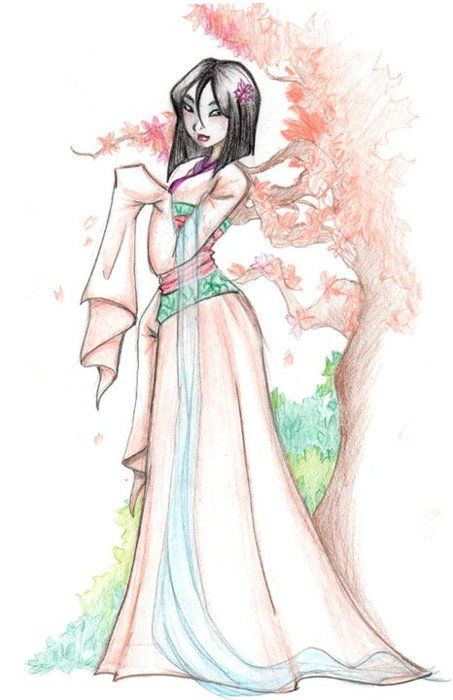 Beautiful things to draw tumblr mulan beautiful colorful