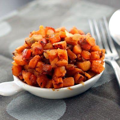 Spicy Sweet Potato Hash   healthy foods   Pinterest