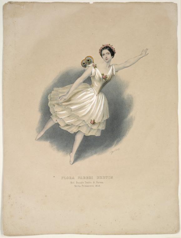 Flora Fabbri Bretin nel ducale teatro di Parma, nella primavera 1843