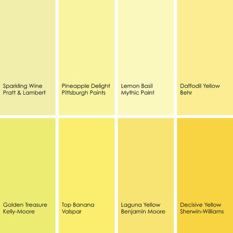 shades of yellow paint colors 2 pinterest