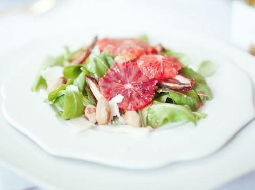 Arugula Salad with Blood Oranges, Dates & Almonds [RECIPE]