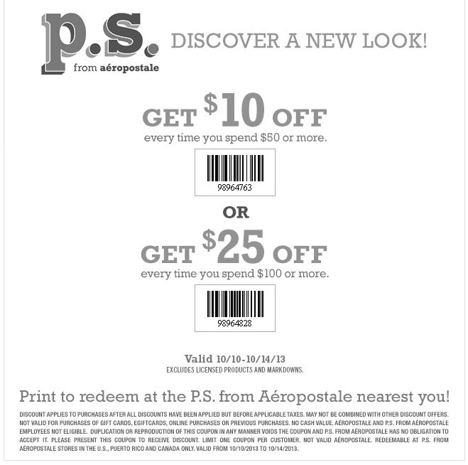 Deep discount coupon 25 off