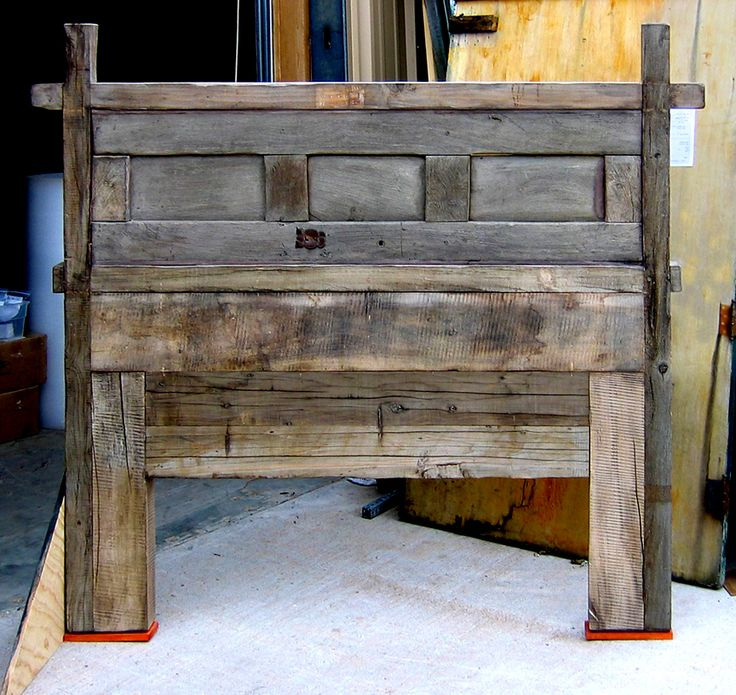 Reclaimed Barn Wood Headboard Home Pinterest