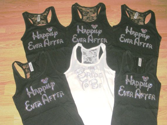 9 12 13 disney font bridesmaid half lace tank top happily for Disney happily ever after shirt