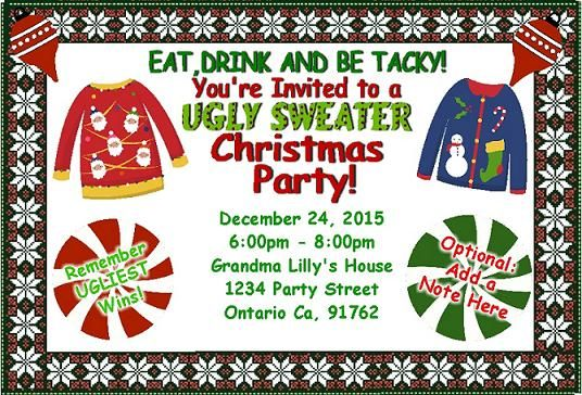Invitation Ideas For Ugly Christmas Sweater Party Ugly Sweater – Ugly Christmas Sweater Party Invitations Free