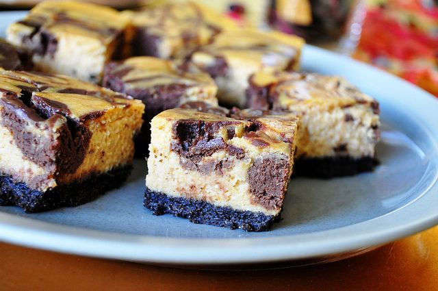 Chocolate pumpkin cheesecake bars | Recipes | Pinterest