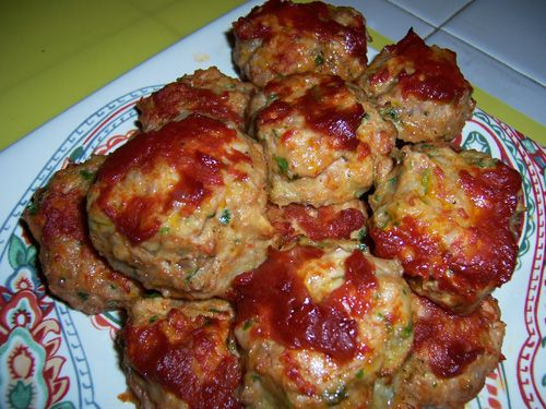 Baked Chicken Meatballs - From Tv Food and Drink, Brought to you by ...