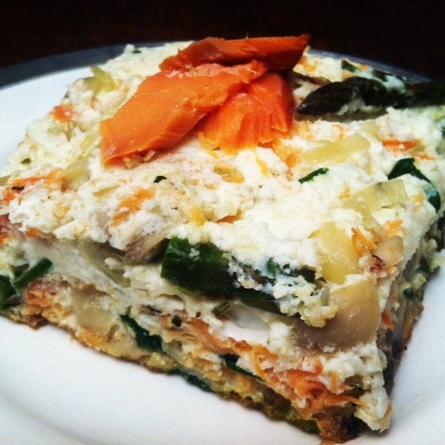 ... asparagus and fresh mozzarella frittata with parmesan and chives