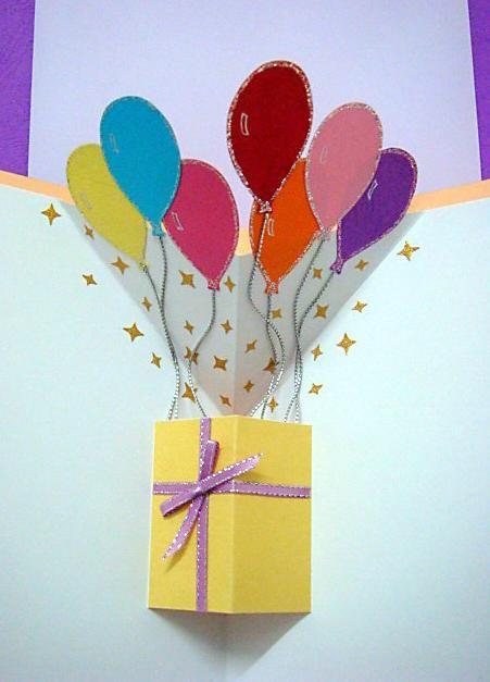 balloons pop up card : Cards ideas : Pinterest