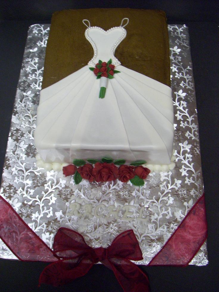 bridal-shower sheet cake Cakes Pinterest