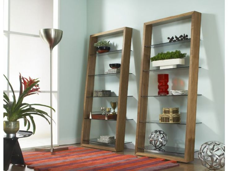 Store and display all your treasures with the Eileen walnut shelf.