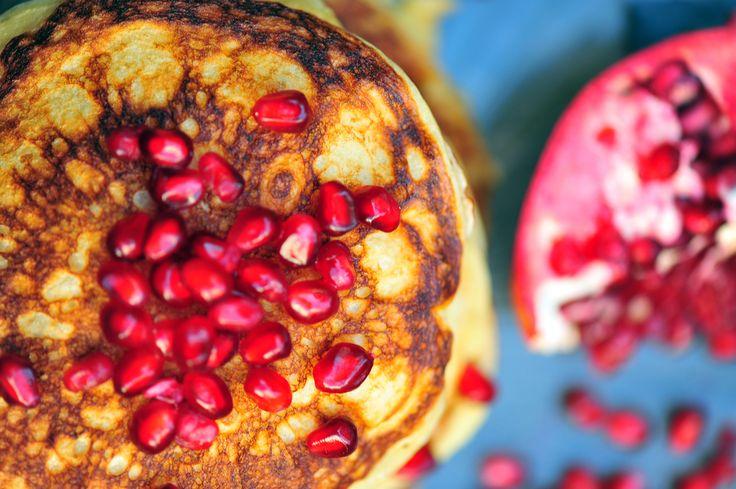 Pomegranate Pancakes! | yummy food | Pinterest
