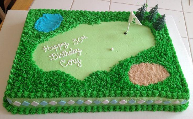 golf themed birthday cake Kid Ideas Pinterest