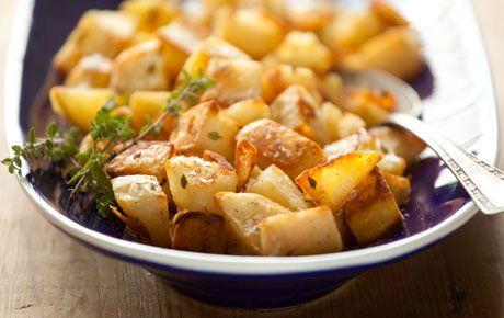 CRISPY OVEN-ROASTED POTATOES preheat oven to 425, cut potatoes into ...