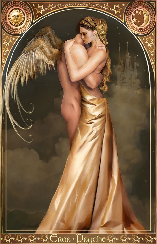 Eros and Psyche Psyche was a woman gifted with extreme beauty and grace, one of the mortal women whose love and sacrifice for her beloved God Eros earned her immortality.  Psyche became, as Greek word